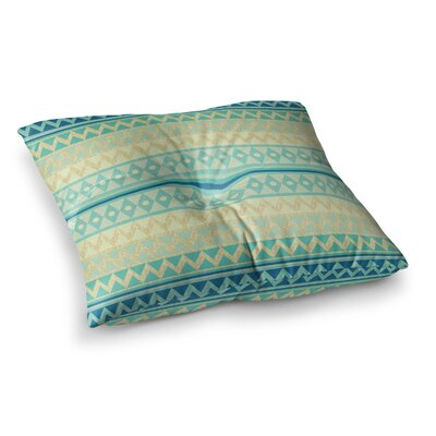 Nika Martinez Glitter Chevron Square Floor Pillow Size: 23 x 23