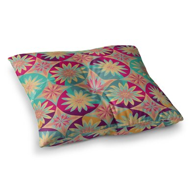 Nika Martinez Happy Flowers Square Floor Pillow Size: 23 x 23