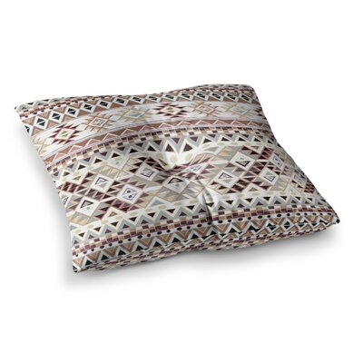 Nika Martinez Tribal Native Square Floor Pillow Size: 23 x 23, Color: Pastel/Brown