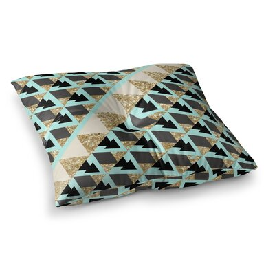 Nika Martinez Glitter Triangles Square Floor Pillow Size: 23 x 23