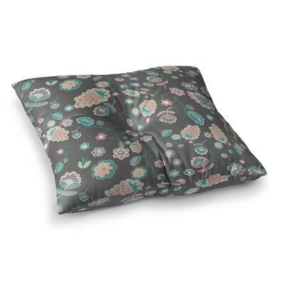 Nika Martinez Cute Winter Floral Square Floor Pillow Size: 26 x 26