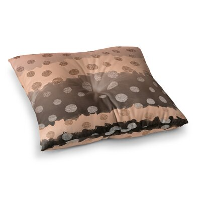 Nika Martinez Earth Dots Square Floor Pillow Size: 26 x 26