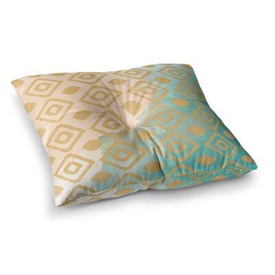 Nika Martinez Watercolor Ikat Square Floor Pillow Size: 26 x 26
