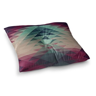 Nika Martinez Hipster Square Floor Pillow Size: 23 x 23, Color: Maroon/Teal