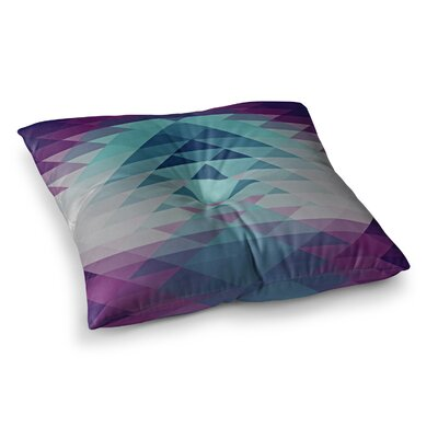 Nika Martinez Hipster Square Floor Pillow Size: 26 x 26, Color: Blue/Lavender