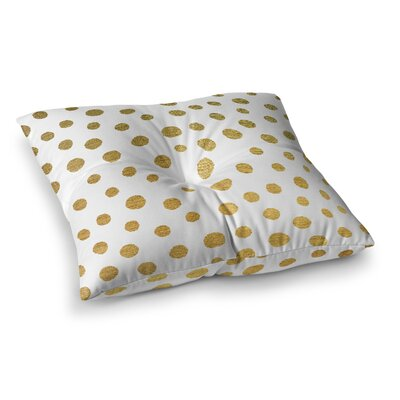 Nika Martinez Dots Square Floor Pillow Size: 26 x 26, Color: White