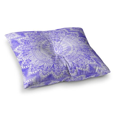 Nika Martinez Boho Flower Mandala Square Floor Pillow Size: 26 x 26, Color: Purple