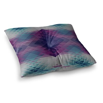 Nika Martinez Hipsterland II Square Floor Pillow Size: 26 x 26, Color: Purple/Teal