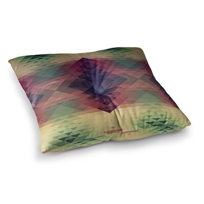 Nika Martinez Hipsterland II Square Floor Pillow Size: 26 x 26, Color: Maroon/Green
