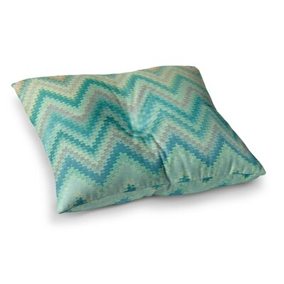 Nika Martinez Seventies Chevron Square Floor Pillow Size: 23 x 23