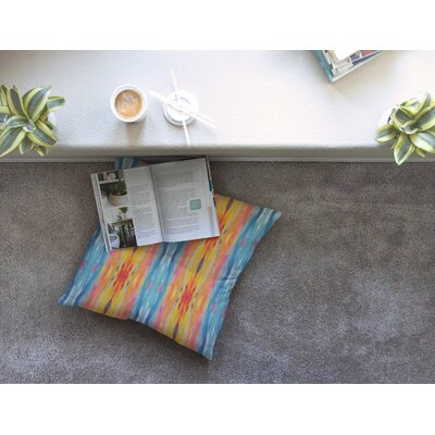 Nika Martinez Boho Tie Dye Square Floor Pillow Size: 26 x 26