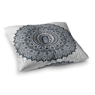 Nika Martinez Boheme Dream Mandala Square Floor Pillow Size: 23 x 23, Color: Black/Blue