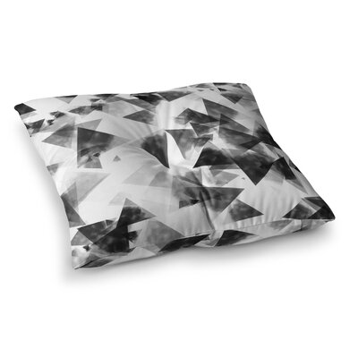 Monica Martinez Inky Triangles Illustration Square Throw Pillow Size: 23 x 23