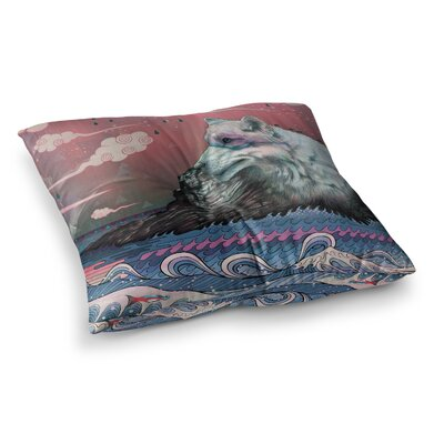 Mat Miller Lone Wolf Square Floor Pillow Size: 23 x 23