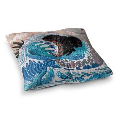 Mat Miller Unstoppable Bull Square Floor Pillow Size: 26 x 26