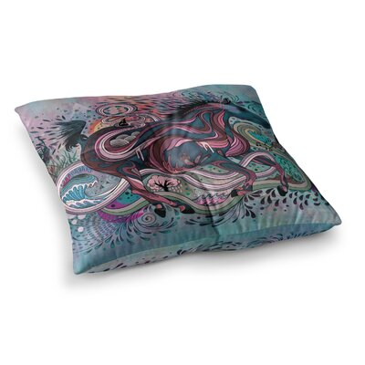 Mat Miller Poetry in Motion Square Floor Pillow Size: 23 x 23