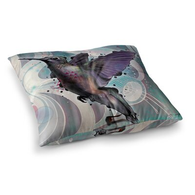 Mat Miller Reaching Hummingbird Square Floor Pillow Size: 26 x 26