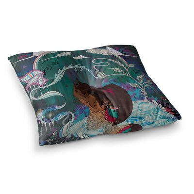 Mat Miller Delicate Distraction Otter Square Floor Pillow Size: 23 x 23