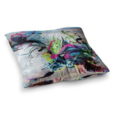 Mat Miller Streaming Eyes Abstract Square Floor Pillow Size: 23 x 23