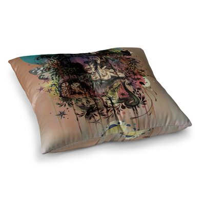 Mat Miller Doom and Bloom Square Floor Pillow Size: 26 x 26