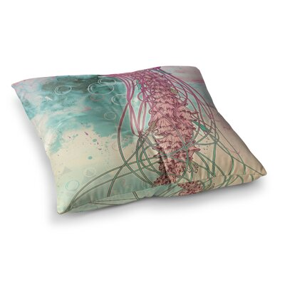 Mat Miller Jellyfish Illustration Square Floor Pillow Size: 23 x 23