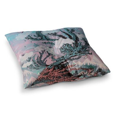 Mat Miller Journeying Spirit Fantasy Square Floor Pillow Size: 26 x 26
