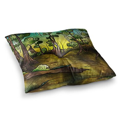 Mandie Manzano Aligator Swamp Square Floor Pillow Size: 26 x 26