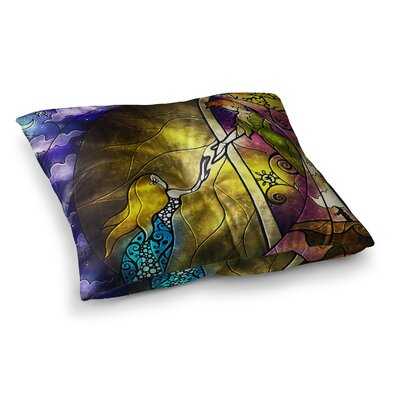 Mandie Manzano Fairy Tale off to Neverland Square Floor Pillow Size: 23 x 23