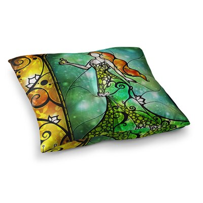 Mandie Manzano Fairy Tale Frog Prince Square Floor Pillow Size: 26 x 26