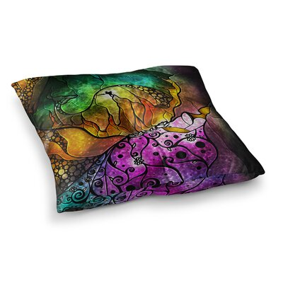 Mandie Manzano Sleeping Beauty Fairy Tale Square Floor Pillow Size: 26 x 26
