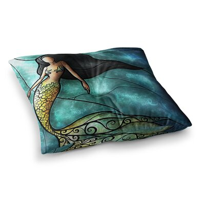 Mandie Manzano Mermaid Square Floor Pillow Size: 23 x 23