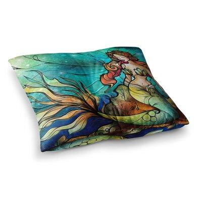 Mandie Manzano Serene Siren Square Floor Pillow Size: 26 x 26
