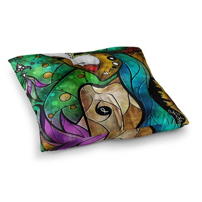 Mandie Manzano Nola Square Floor Pillow Size: 23 x 23