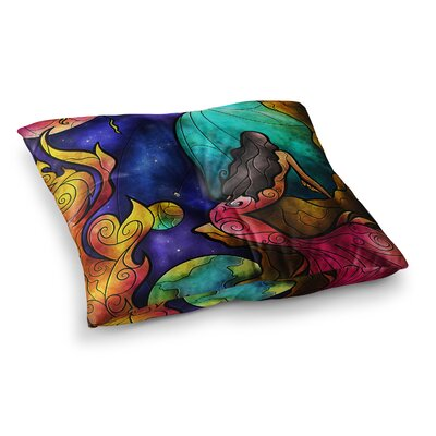 Mandie Manzano Believe Square Floor Pillow Size: 23 x 23
