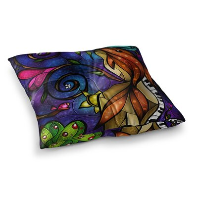 Mandie Manzano Tell Me Stories Square Floor Pillow Size: 23 x 23