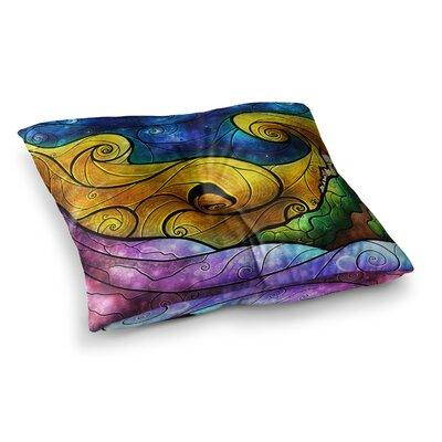 Mandie Manzano Starry Lights Square Floor Pillow Size: 26 x 26