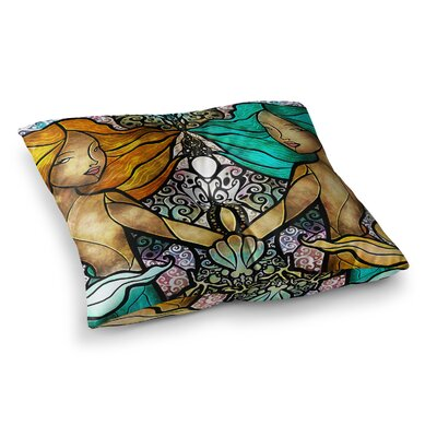 Mandie Manzano Mermaid Twins Square Floor Pillow Size: 23 x 23
