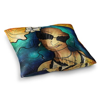 Mandie Manzano Let the Good Times Roll Square Floor Pillow Size: 26 x 26