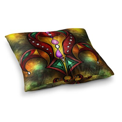 Mandie Manzano Fleur De Lis Warm Square Floor Pillow Size: 26 x 26