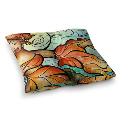 Mandie Manzano Cubana Dancing Square Floor Pillow Size: 23 x 23