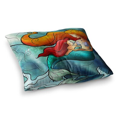 Mandie Manzano I Remember Love Mermaid Square Floor Pillow Size: 23 x 23