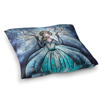 Mandie Manzano The Snow Queen Frozen Square Floor Pillow Size: 23 x 23