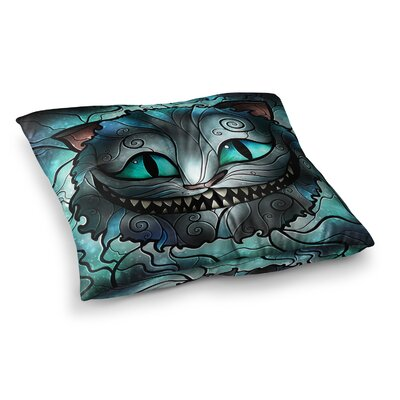 Mandie Manzano Mad Chesirel Cat Square Floor Pillow Size: 26 x 26