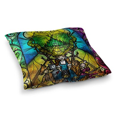 Mandie Manzano Wizard of Oz Fantasy Square Floor Pillow Size: 26 x 26