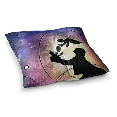 Mandie Manzano Fathers Day Star Wars Square Floor Pillow Size: 23 x 23