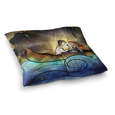 Mandie Manzano Something About Her Mermaid Square Floor Pillow Size: 23 x 23