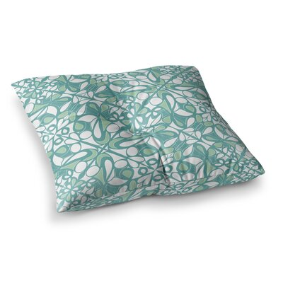Miranda Mol Swirling Tiles Square Floor Pillow Size: 23 x 23