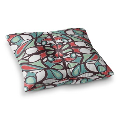 Miranda Mol Round Tiles Square Floor Pillow Size: 23 x 23