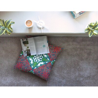 Miranda Mol Lace Flakes Square Floor Pillow Size: 23 x 23