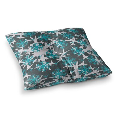Miranda Mol Tree Snow Flakes Square Floor Pillow Size: 26 x 26